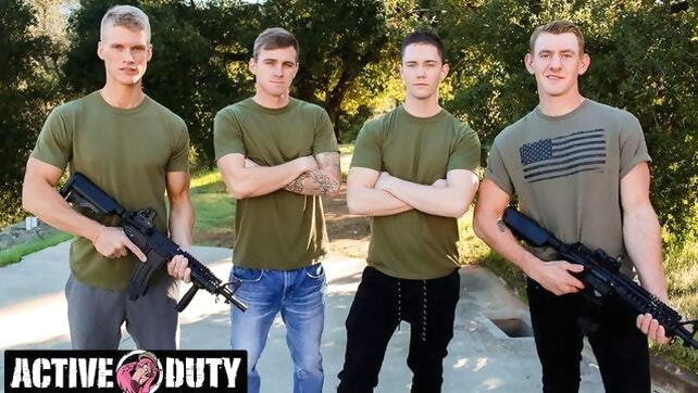 Gay Xnxx - Savage Military Foursome Bareback Fuck Each Other amateur