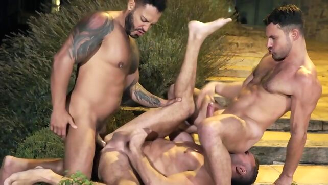 Gay Xnxx - Champagne For 3 bareback